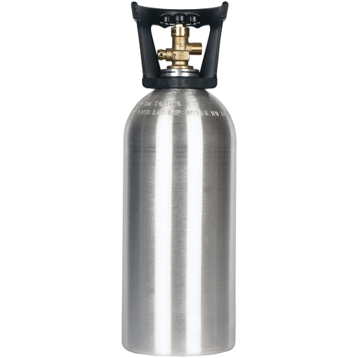 Beverage Elements 10 lb CO2 Cylinder With Handle Aluminum New