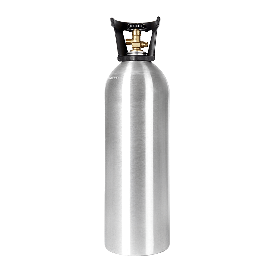 20 Lb Co2 Cylinder With Handle Aluminum New Beverage