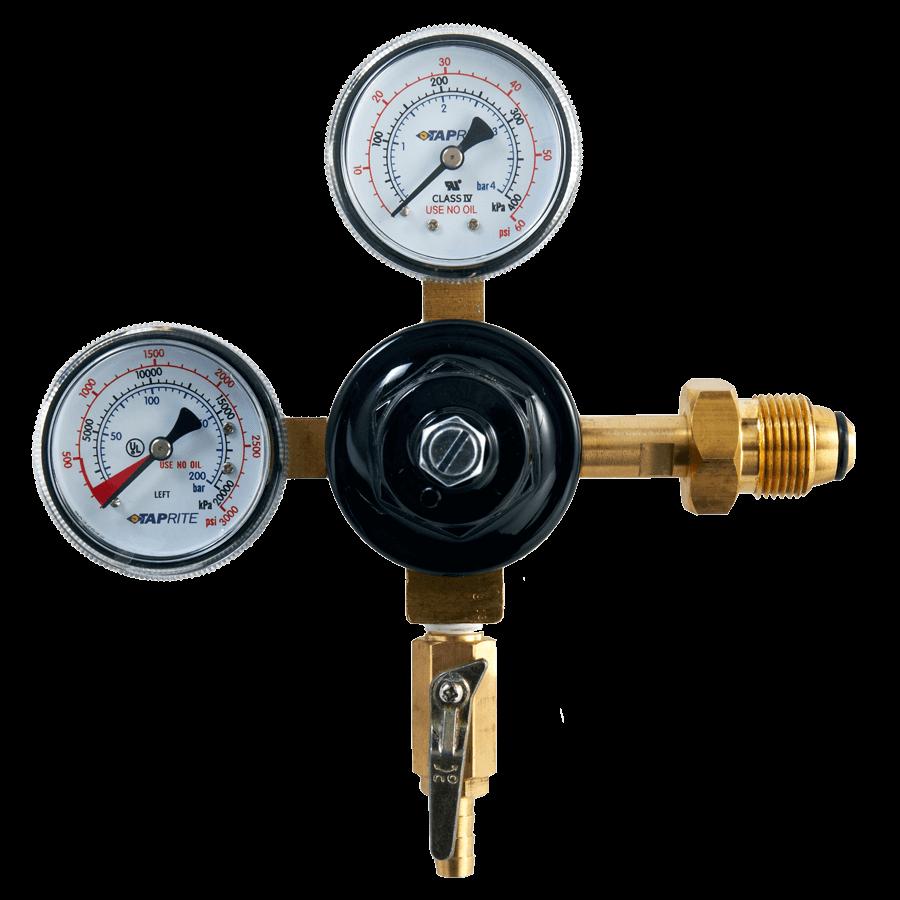 taprite dual gauge regulator for nitro coffee beverage elements