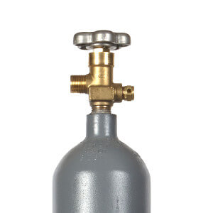 Beverage Elements 7 lb co2 cylinder valve closeup