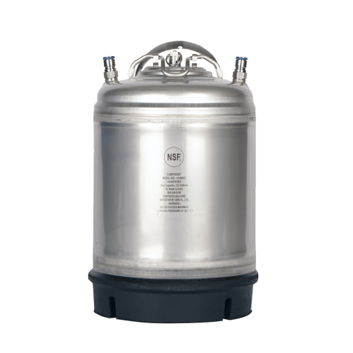 Beverage Elements 2.5 gallon ball lock keglements AMCYL stainless steel single handle 2 point 5 gallon ball lock keg single handle