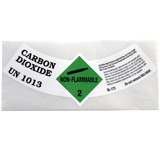 Beverage Elements CO2 gas cylinder label