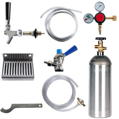 Beverage Elements Refrigerator Conversion Kit Sankey Keg CO2