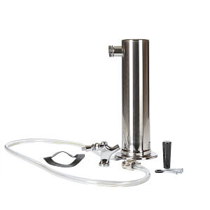 Beverage Elements Stainless Steel Single Tap Draft Beer Tower