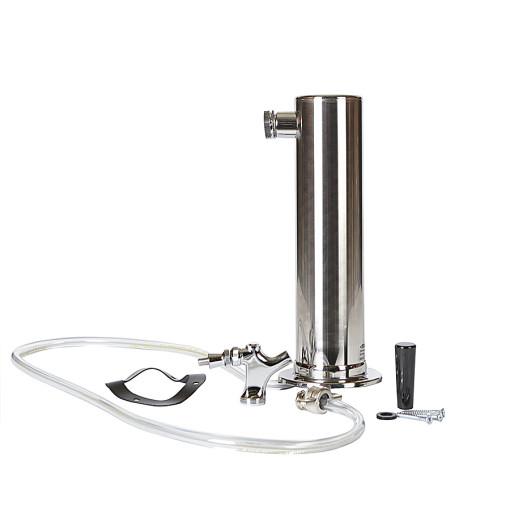 Beverage Elements Stainless Steel Single Tap Draft Beer Tower
