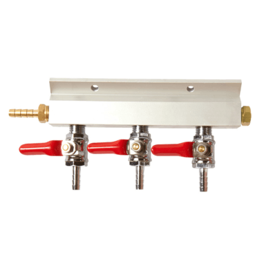 Beverage Elements Three Way Gas Manifold