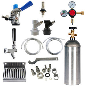 Beverage Elements Universal Kegerator Refrigerator Conversion Kit With CO2
