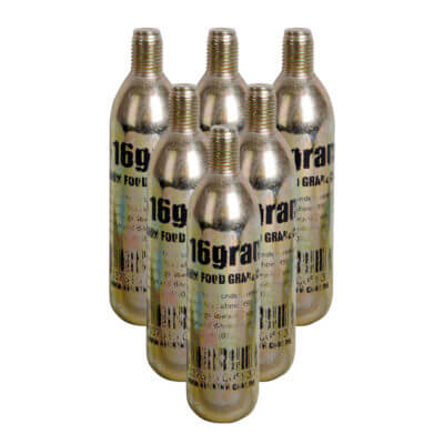 Beverage Elements CO2 Charger Cartridges 6 Pack