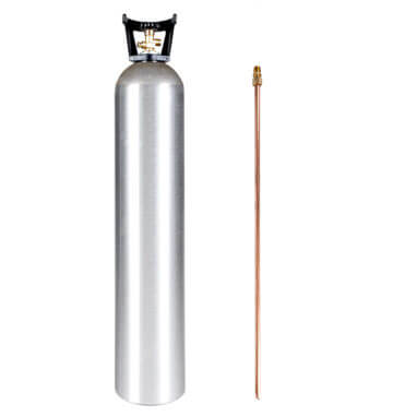 Beverage Elements 35 lb CO2 Cylinder with Siphon Tube and Handle