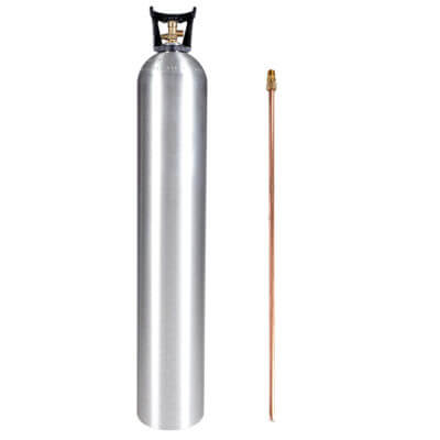Beverage Elements 50 lb CO2 cylinder with siphon tube