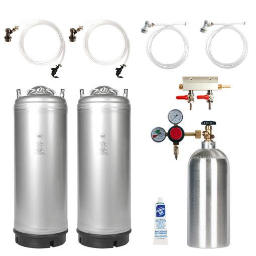 Beverage Elements Dual Keg Kegerator Kit KIT10