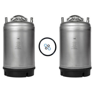Beverage Elements 3 Gallon Ball Lock Keg Two Pack