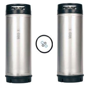 Beverage Elements Dual Handle 5 Gallon Ball Lock Keg Two Pack