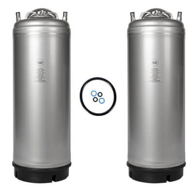 Beverage Elements Single Handle 5 Gallon Ball Lock Keg Two Pack