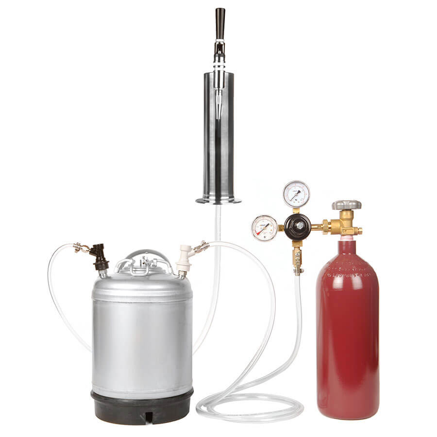 2 5 Gallon Ball Lock Keg Stout Kit With 20 Cu Ft Nitrogen
