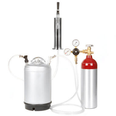 Beverage Elements Nitrogen Stout Beer Keg Kit 2 Aluminum Cylinder