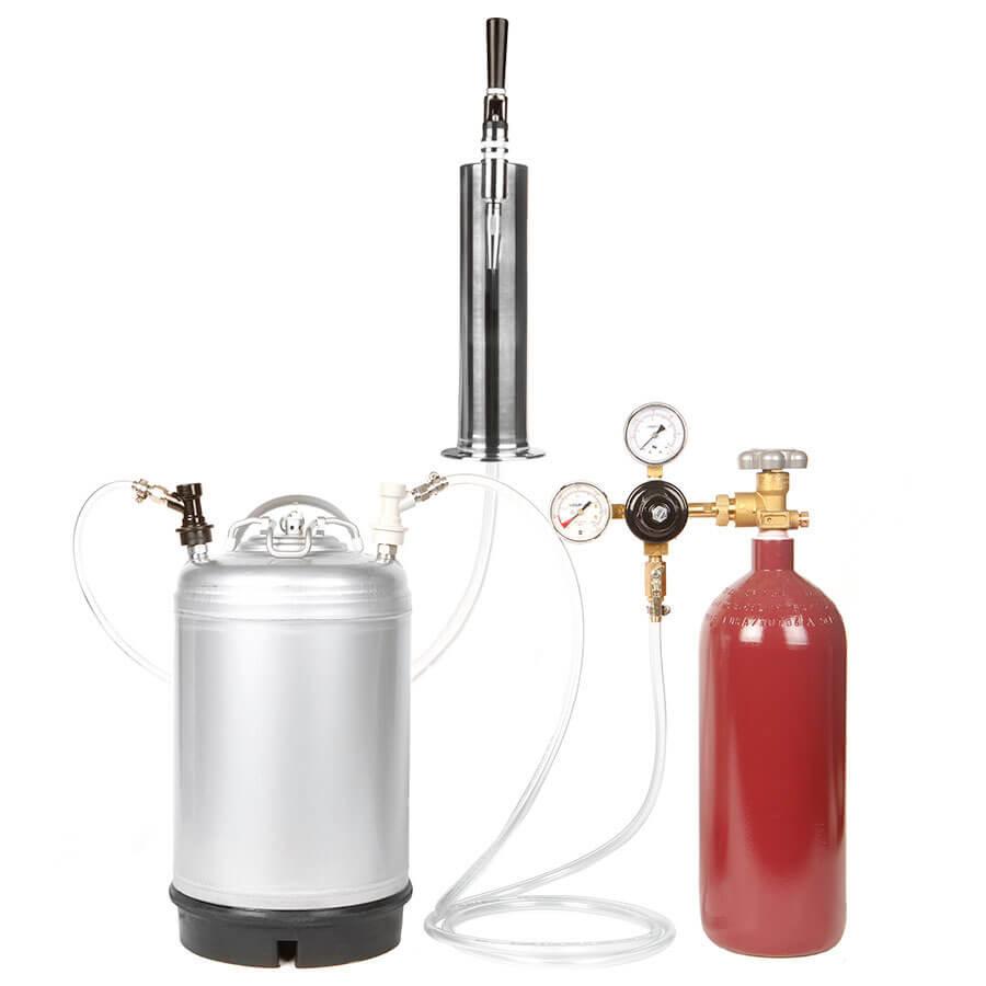 3 Gallon Ball Lock Keg Stout Kit With 20 Cu. Ft. Nitrogen Cylinder ...