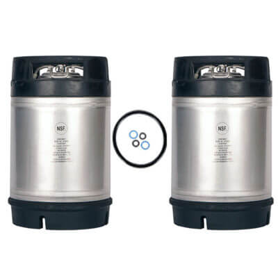 2.5 Gallon Ball Lock Keg Two Pack