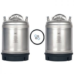 Beverage Elements 2.5 Gallon Ball Lock Keg Two Pack