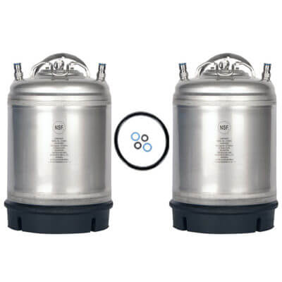 Beverage Elements 2.5 Gallon Ball Lock Keg Two Pack