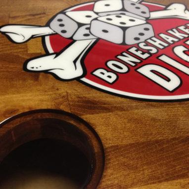 Beverage Elements Boneshaker Dice Table Closeup