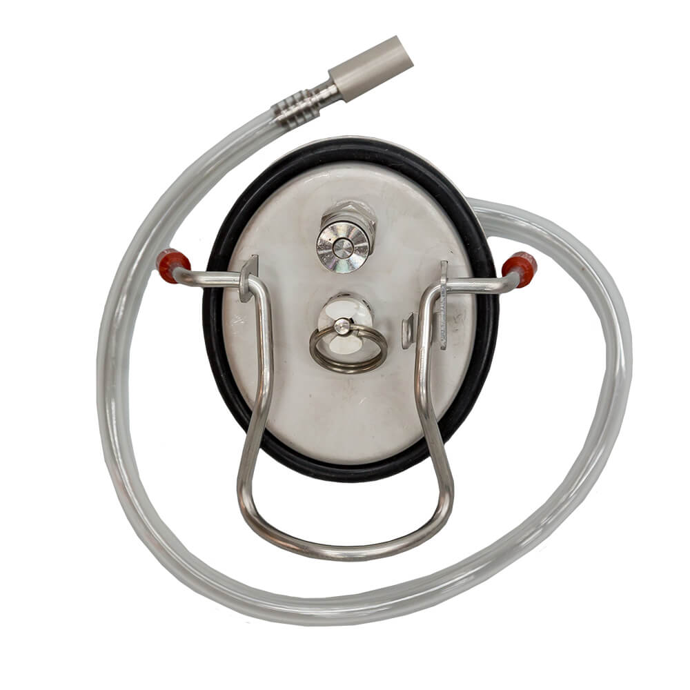 Beverage Elements Carbonating Keg Lid with 5 Micron Stone