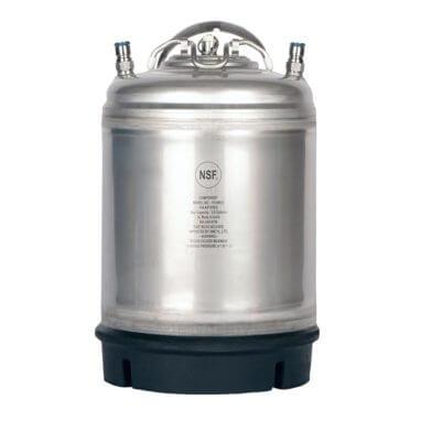 Beverage Elements 2.5 gallon ball lock keglements AMCYL stainless steel single handle 2 point 5 gallon ball lock keg single handle 1000x1000