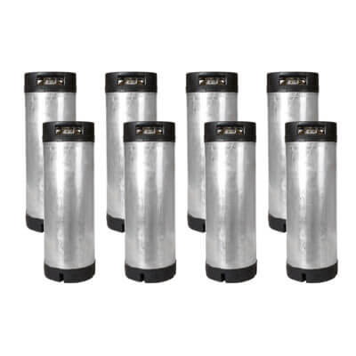 Beverage Elements 8 Pack Reconditioned 5 Gallon Ball Lock Kegs