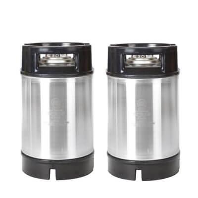 Beverage Elements 2.5 Gallon AEB Ball Lock Kegs Dual Handle