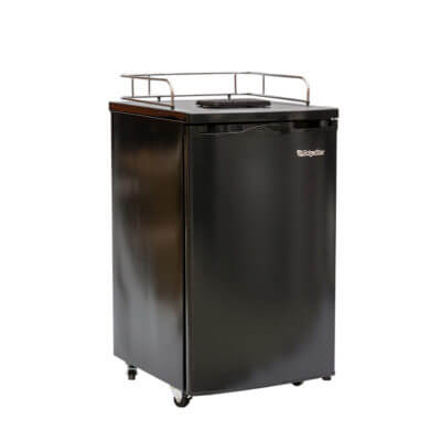 Beverage Elements Kegerator Refrigerator Black Front