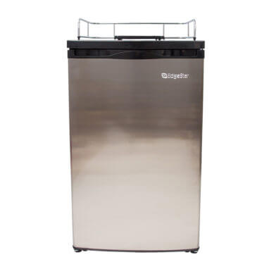 Beverage Elements Kegerator Refrigerator Stainless Steel Front