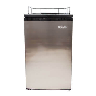 Beverage Elements Kegerator Refrigerator Stainless Steel Front
