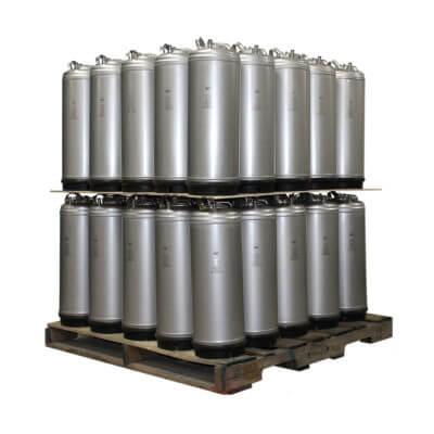 Beverage Elements 5 Gallon Single Handle Ball Lock Keg Two Layer Pallet