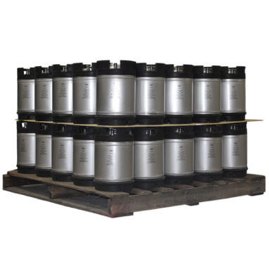 2-5 Gallon Dual Handle Ball Lock Keg Two Layer Pallet AMCYL