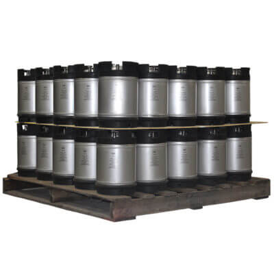 2-5 Gallon Dual Handle Ball Lock Keg Two Layer Pallet AMCYL