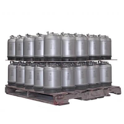 2-5 Gallon Single Handle Ball Lock Keg Two Layer Pallet AMCYL