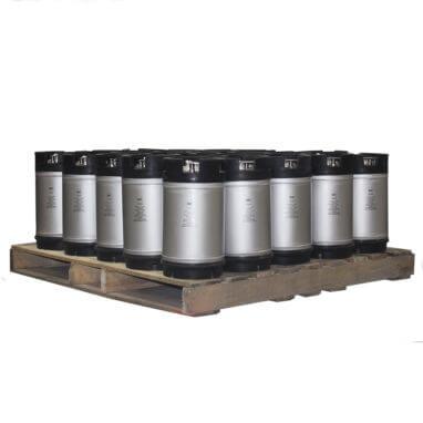 3 Gallon Dual Handle Ball Lock Keg Pallet AMCYL
