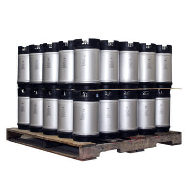 3 Gallon Dual Handle Ball Lock Keg Two Layer Pallet AMCYL