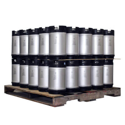 3 Gallon Dual Handle Ball Lock Keg Two Layer Pallet AMCYL