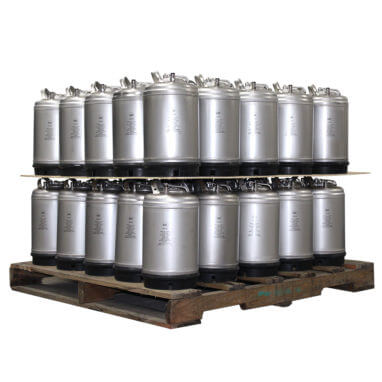 3 Gallon Single Handle Ball Lock Keg Two Layer Pallet AMCYL