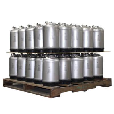 3 Gallon Single Handle Ball Lock Keg Two Layer Pallet AMCYL