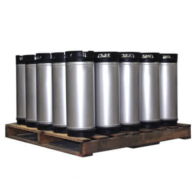 5 Gallon Dual Handle Ball Lock Keg Pallet AMCYL