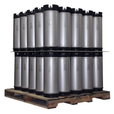 5 Gallon Dual Handle Ball Lock Keg Two Layer Pallet AMCYL