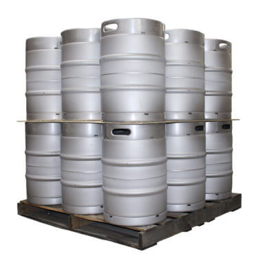 Half Barrel Sankey Keg Two Layer Pallet