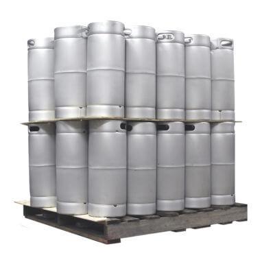Quarter Barrel Sankey Keg Two Layer Pallet