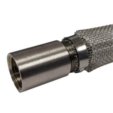 Stainless Steel Coupler on Bazooka Screen