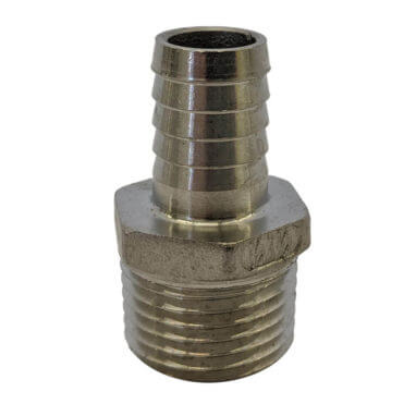 Stainless Steel Male Barbed Fitting